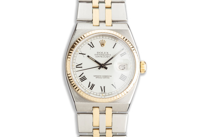 1979 Rolex Two Tone OysterQuartz DateJust 17013 with White Roman Numeral Dial photo