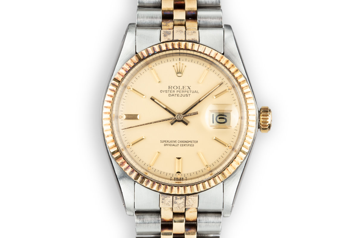 1978 Rolex Two-Tone DateJust 1601 with Matte Champagne Dial photo, #0