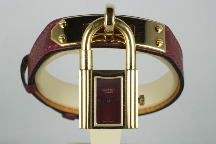 1995 Hermes YG Kelly Lock Watch photo