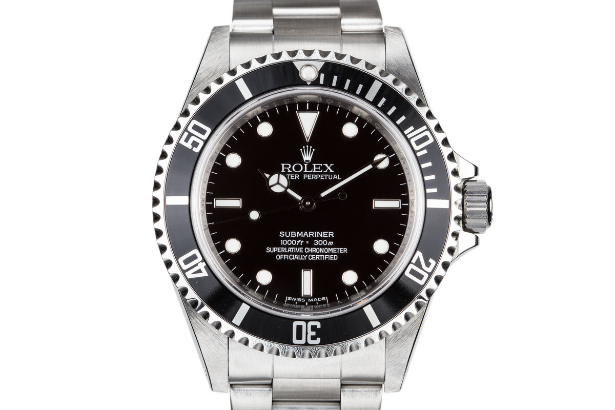 2009 Rolex Submariner 14060  4 Line Dial with Box and Papers photo, #0