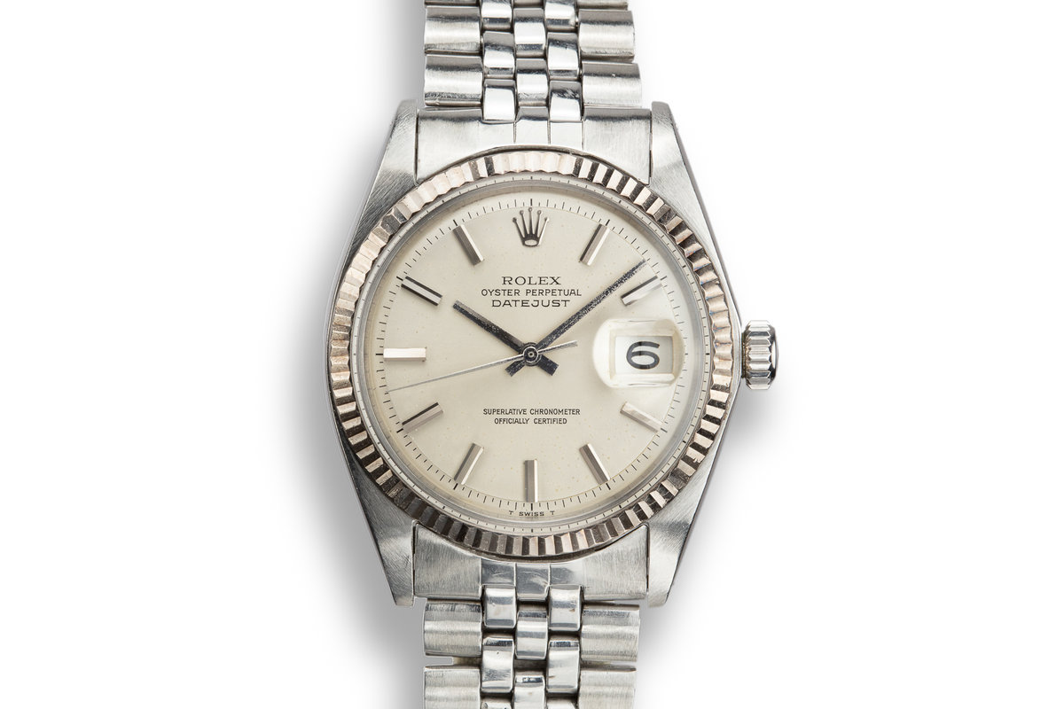 1968 Rolex DateJust 1601 No Lume Silver Dial with Service Papers photo, #0