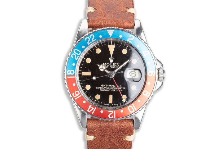 """1963 Vintage Rolex GMT-Master 1675 Glossy Gilt Dial PCG with """"Pepsi"""" Insert photo"""