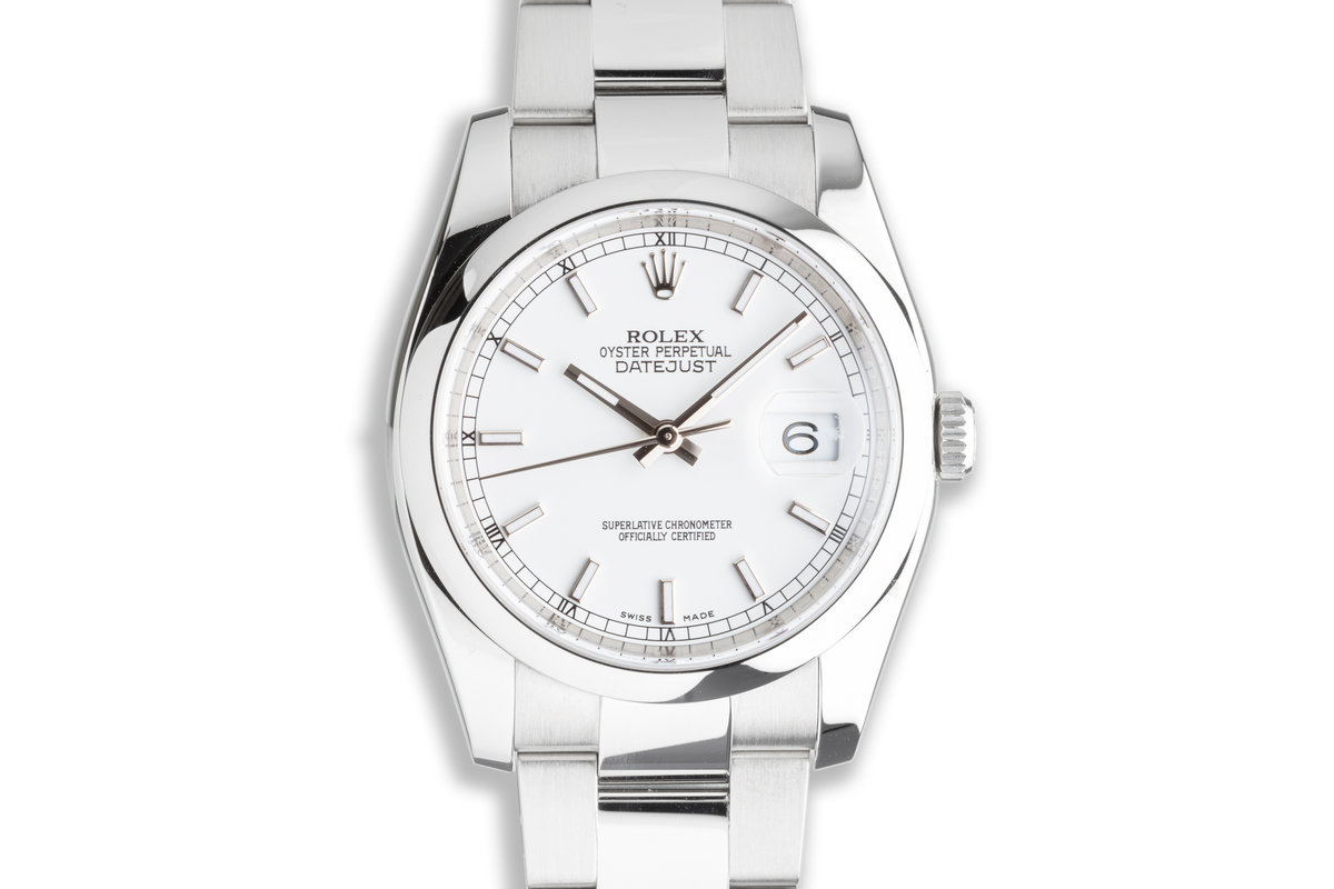 2015 Rolex DateJust 116200 White Dial with Box and Card photo, #0