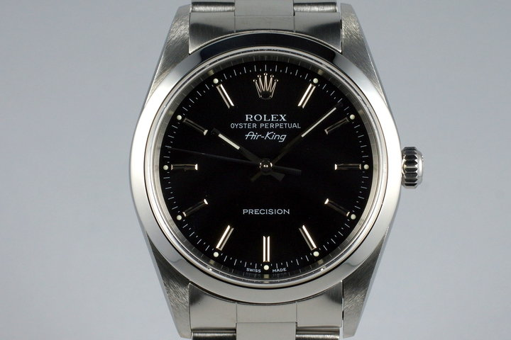 2000 Rolex Air-King 14000 Black Dial photo