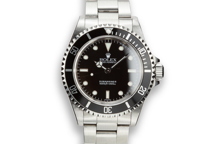 """1999 Rolex Submariner 14060 """"SWISS"""" Only Dial photo"""