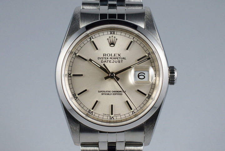 2002 Rolex DateJust 16200 with Silver Dial photo