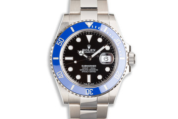 """2021 Rolex 18K White Gold Submariner 126619LB """"SMURF"""" with Box and Card photo"""