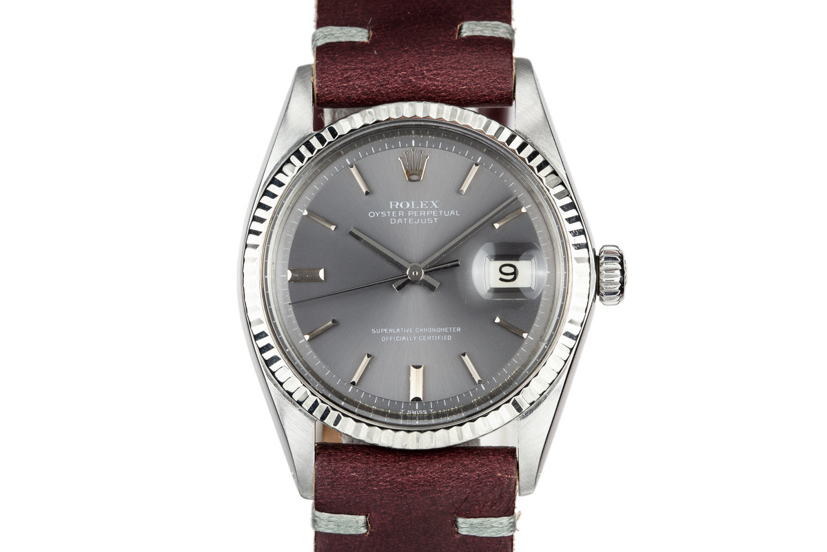 1969 Rolex DateJust 1601 with No Lume Grey Dial photo, #0