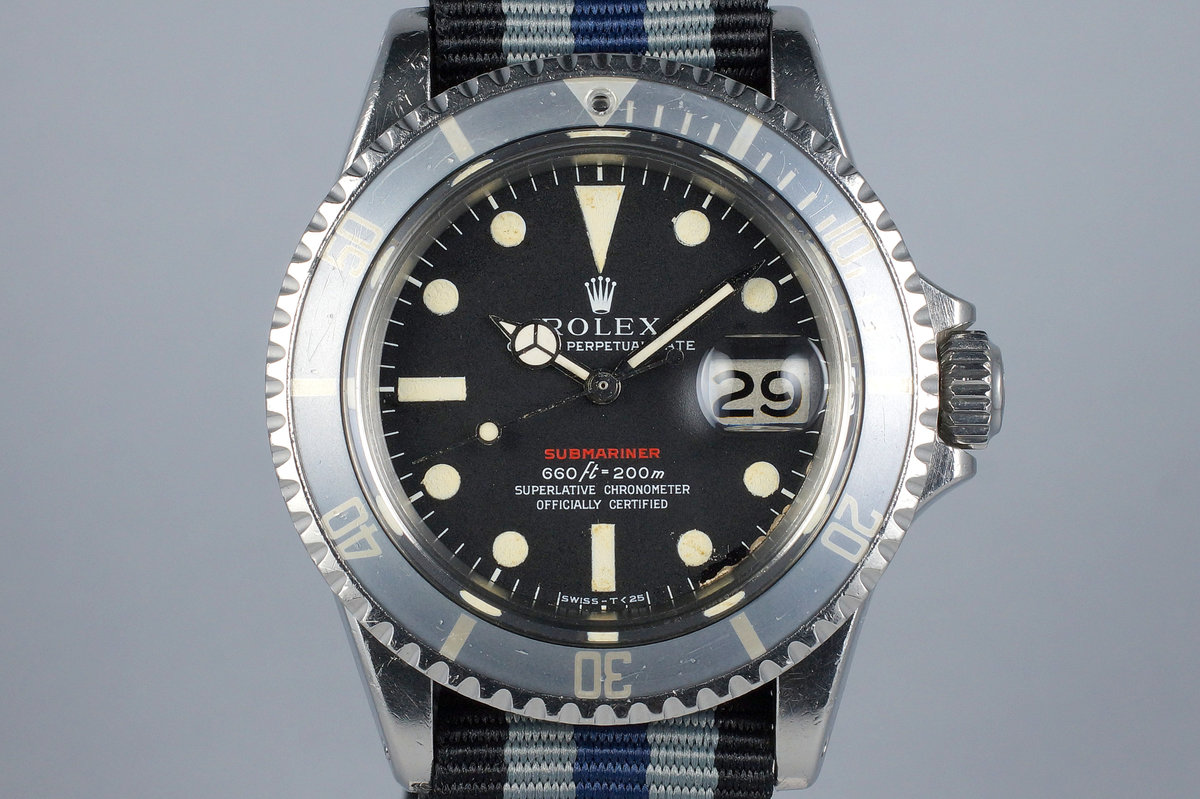 """1970 Rolex Red Submariner 1680 Mark IV Dial with """"Ghost"""" Insert photo, #0"""