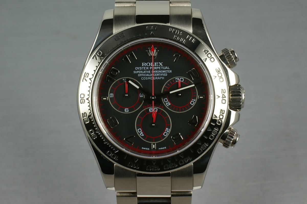 Rolex WG Daytona 116509 black dial with papers photo, #0