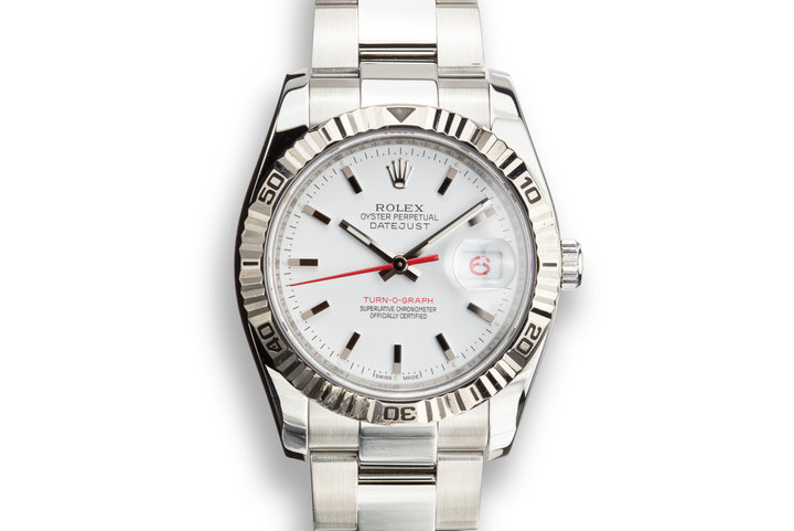 2006 Rolex DateJust Turn-O-Graph 116264 White Dial with Box and Papers photo