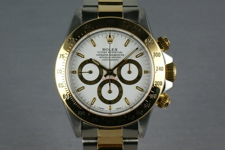 Rolex 18K/SS Zenith Daytona 16523 with Rolex Service Papers photo