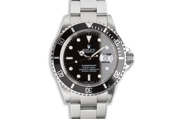 2003 Rolex Submariner 16610 with Box Papers & Service Papers photo