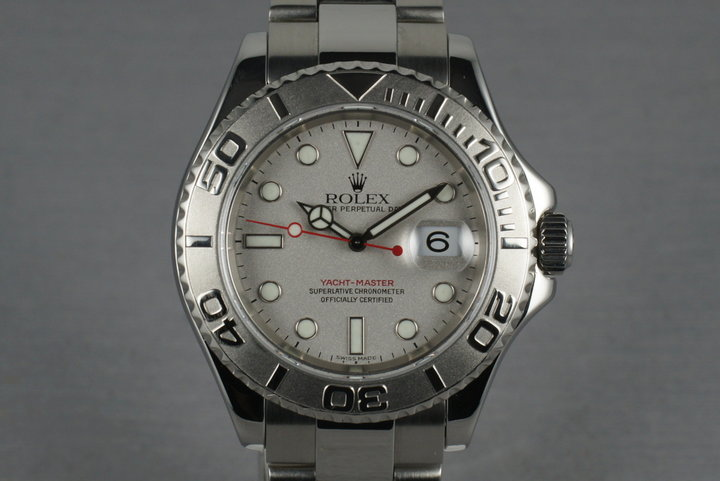 Rolex Platinum and Stainless Steel Yacht-Master  16622 photo