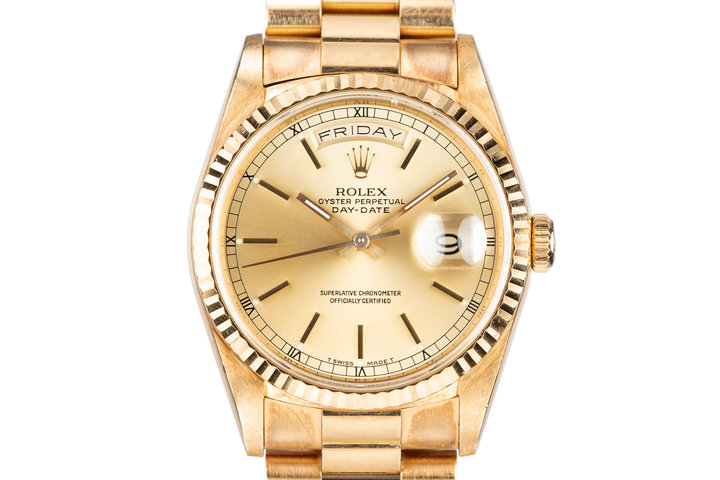 1989 Rolex 18K YG Day-Date President 18238 photo