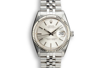 1978 Rolecx DateJust 1601 Silver Sigma Dial with Service Papers photo