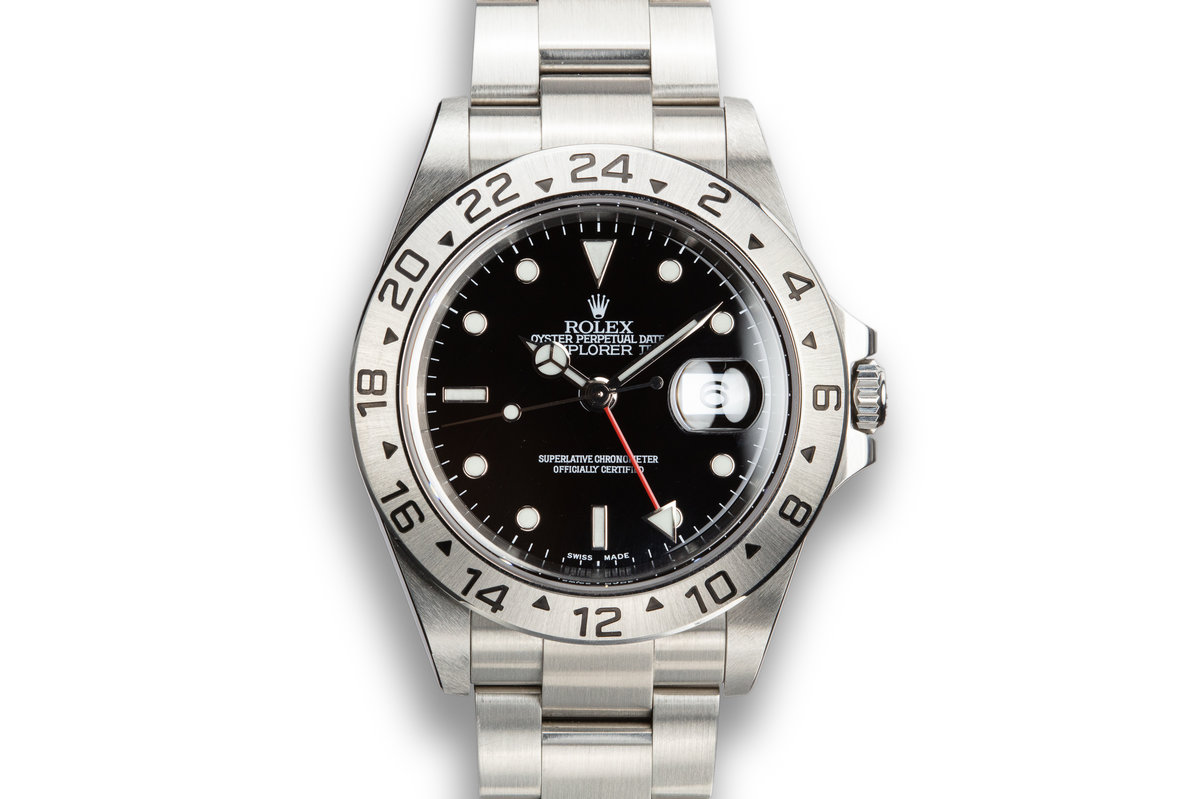 2003 Rolex Explorer II 16570 Black Dial with Box and Papers photo, #0