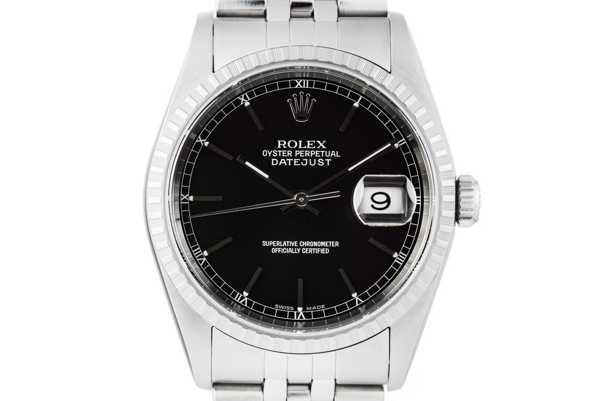 2003 Rolex DateJust 16220 Black Dial with Box and Papers photo, #0