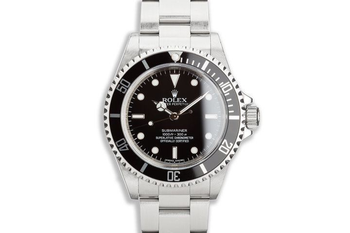 2010 Rolex Submariner 14060M 4-Line Dial Unpolished photo