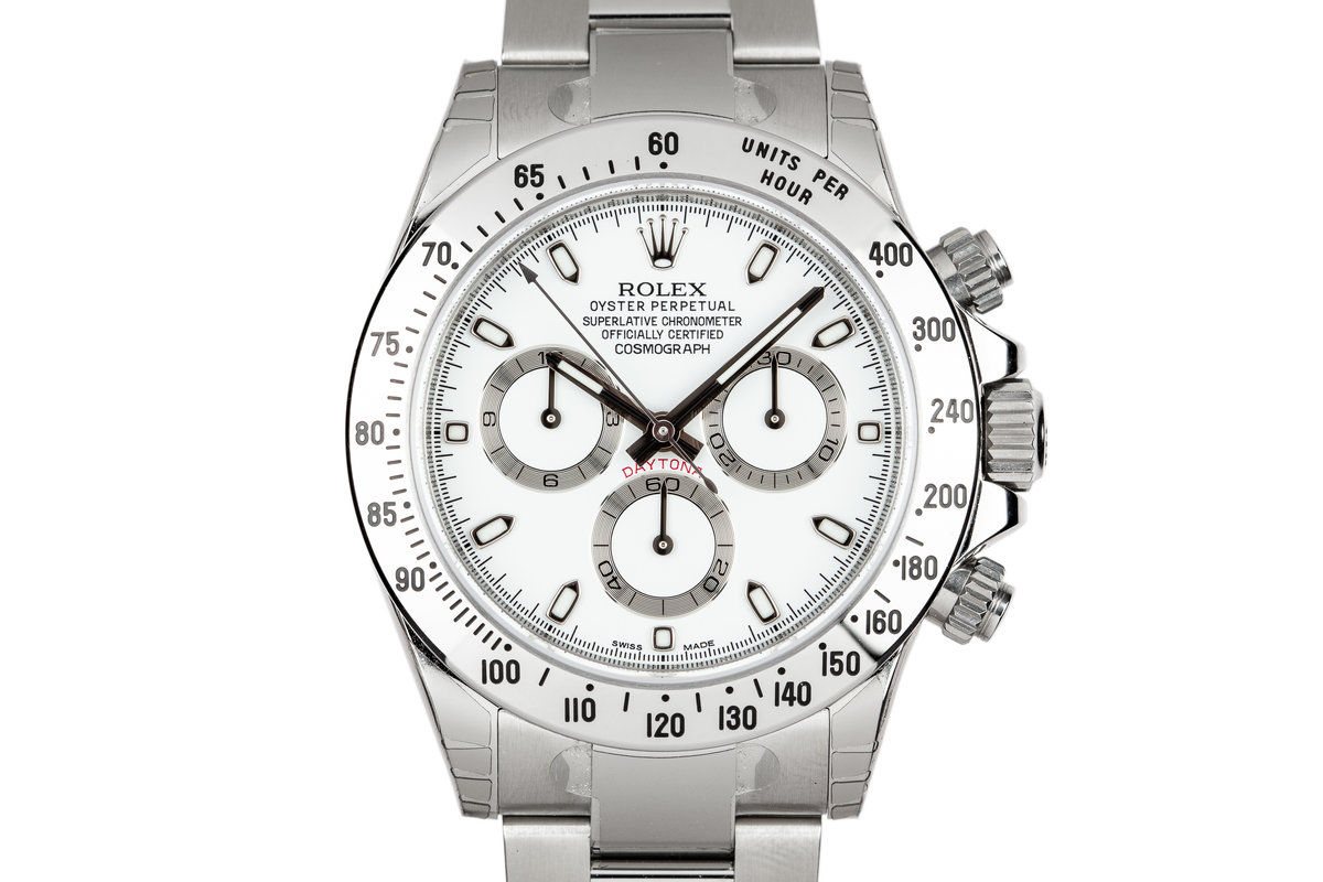 Mint 2015 Rolex Daytona 116520 White Dial with Box and Papers photo, #0