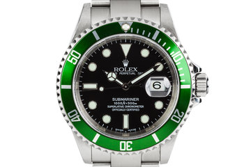 2003 Rolex Submariner 16610LV with MK I dial and Green Bezel photo