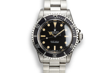 1978 Rolex Submariner 5513 with Pre Comex Dial photo