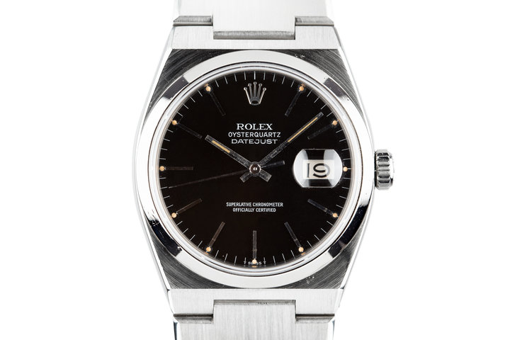 1980 Rolex OysterQuartz DateJust 17000 Black Dial photo