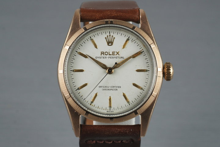 1954 Rolex Rose Gold Shell Oyster Perpetual 6334 photo