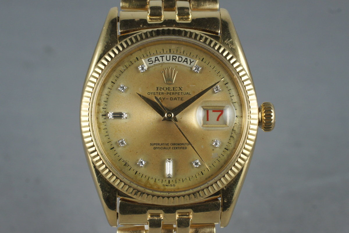 1956 Rolex 18K Day-Date 6611 Diamond Dial with RSC Papers photo, #0