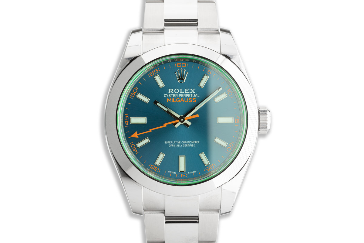 2021 Rolex Milgauss 116400GV Blue Dial with Box and Card photo, #0