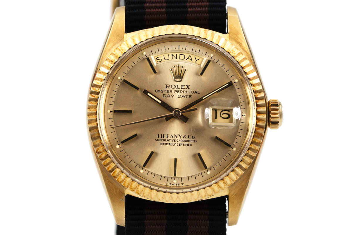 1970 Rolex YG Day-Date 1803 Champagne Dial with Tiffany and Co Dial photo, #0