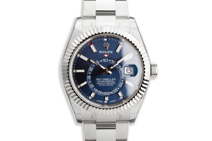 2019 Rolex Sky-Dweller 326934 Blue Dial with Box and Papers photo