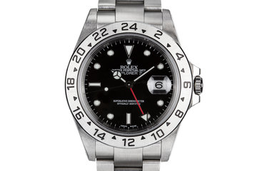 2000 Rolex Explorer II 16570 Black Dial with Box and Papers photo