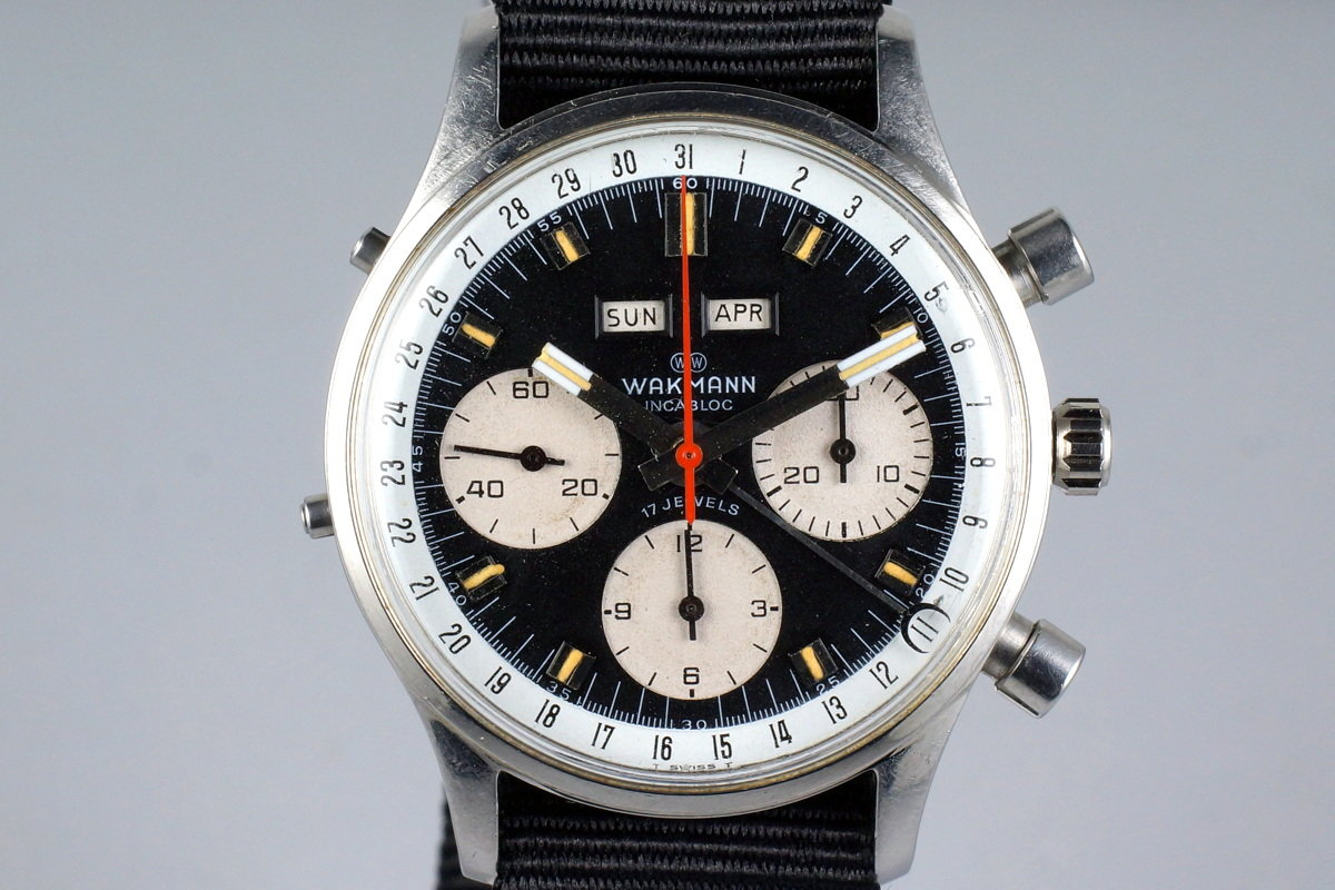 1960's Wakmann Incabloc Triple Date Chronograph 71.1309.70 photo, #0