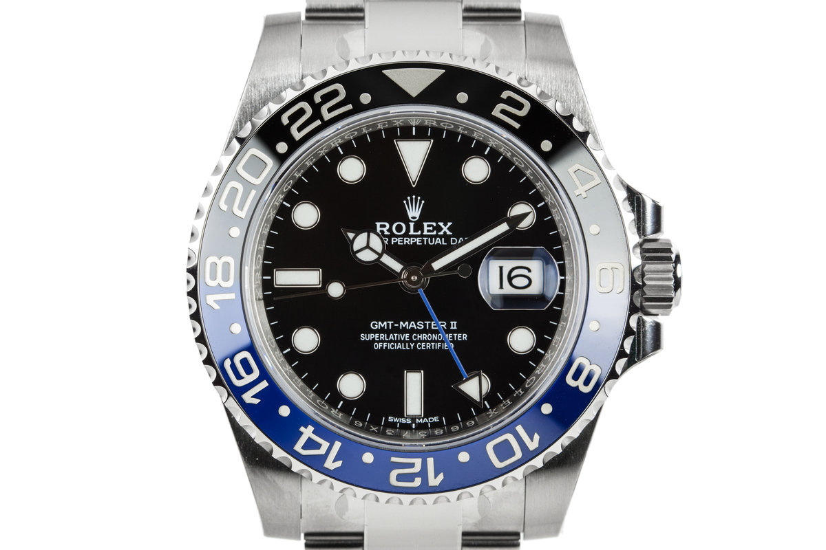 """Mint 2017 Rolex GMT-Master 116710 BLNR """"Batman"""" with Box and Papers photo, #0"""