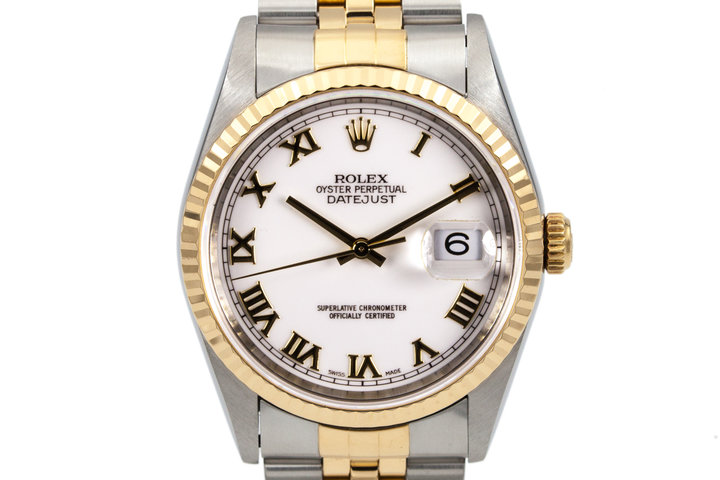 1997 Rolex Two Tone DateJust 16233 White Dial with Box and Papers photo