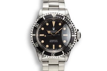 "1979 Rolex Submariner 5513 with Mk III ""Lollipop"" Maxi Dial photo"