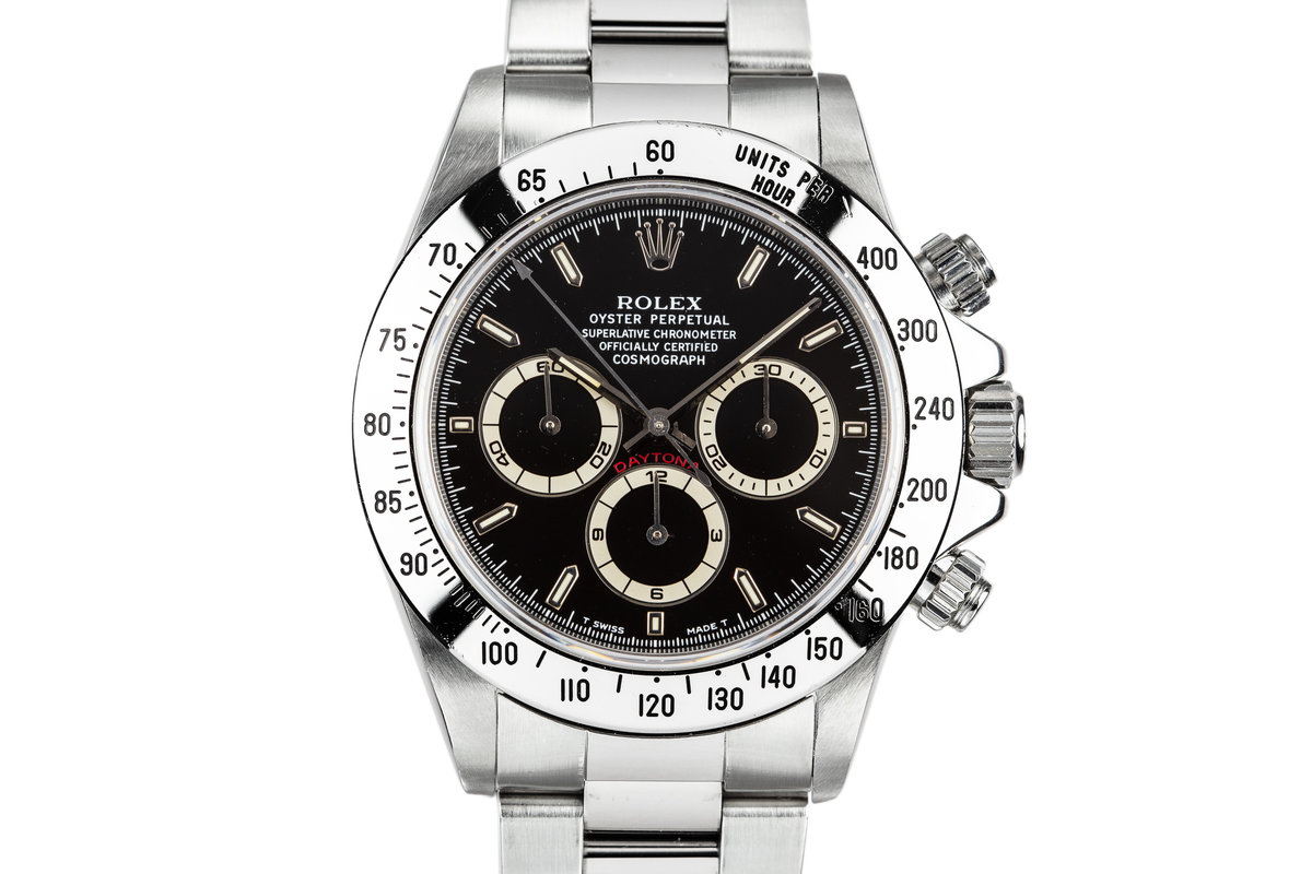 1995 Rolex Zenith Daytona 16520 Black Dial photo, #0