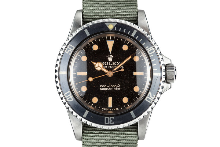 1967 Rolex Submariner 5513 with Meters First Gilt Dial photo