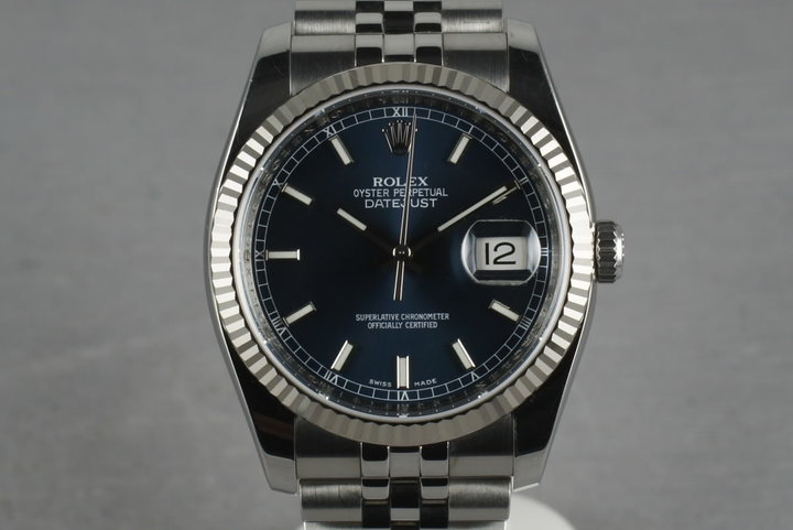 2006 Rolex Modern Datejust 116234 with Navy Blue Dial photo
