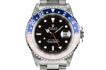 "1997 Rolex GMT-Master 16700 with Faded ""Pepsi"" Bezel. photo"