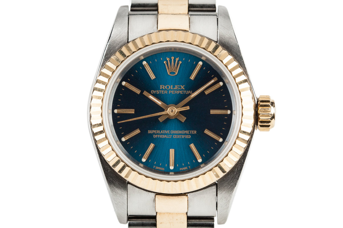 1995 Ladies Oyster Perpetual 67193 Blue Dial photo, #0