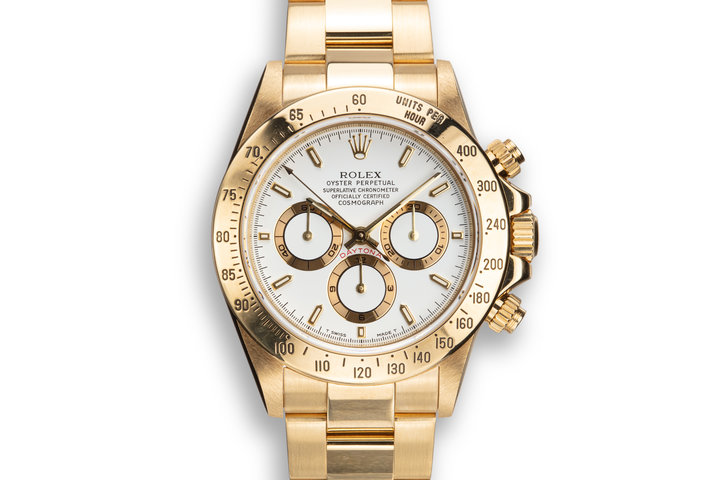 1995 Rolex 18K YG Daytona 16528 White Dial with Box photo