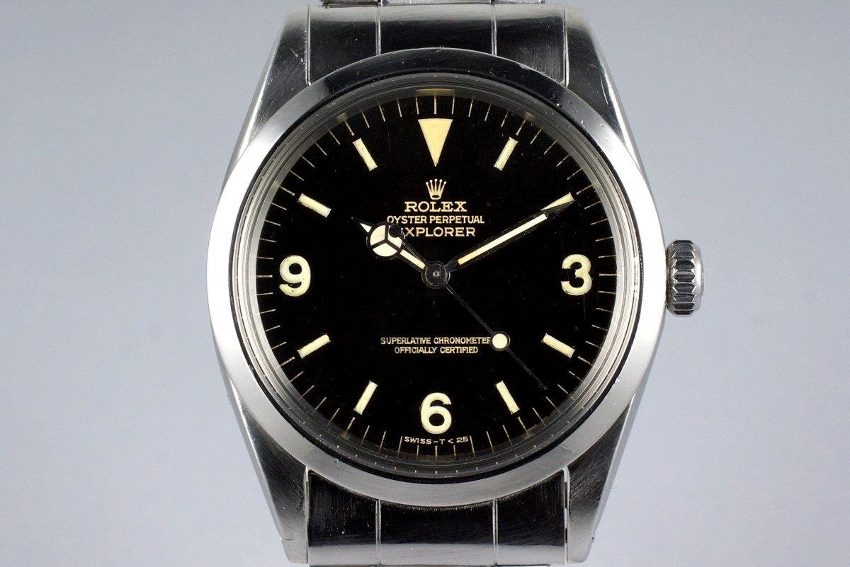 HQ Milton , 1966 Vintage Rolex Explorer 1 1016 Glossy Gilt