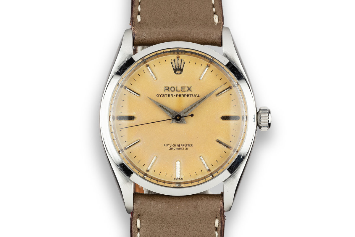 "1957 Rolex Oyster-Perpetual 6564 Tropical Dial with ""Amtlich Geprufter Chronometer"" photo, #0"