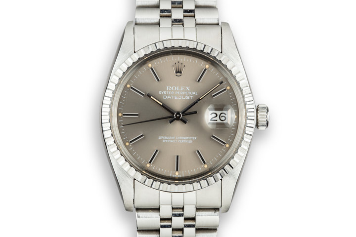 1979 Rolex DateJust 16030 Grey Dial photo