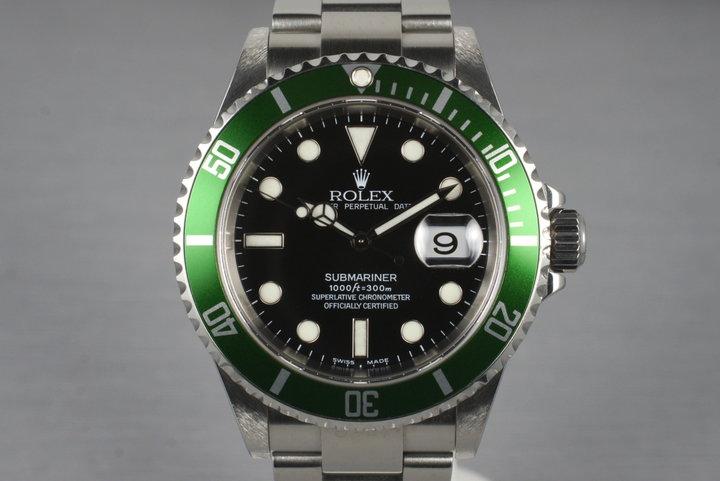 2004 Rolex Green Submariner 16610T photo