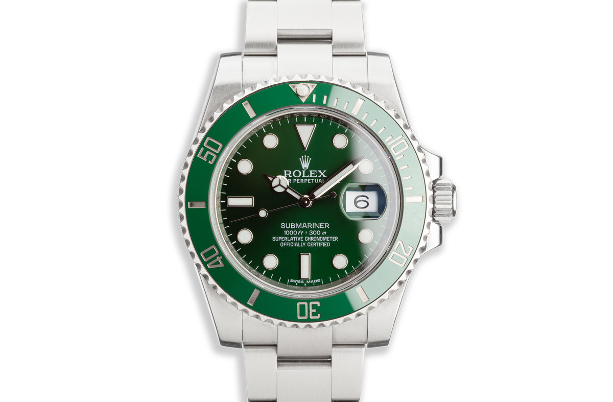 """2014 Rolex Green Submariner 116610LV """"Hulk"""" with Box and Card photo, #0"""