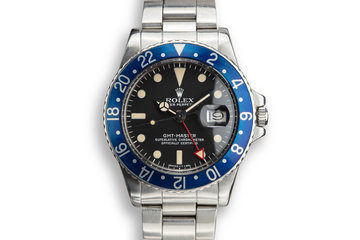 "1978 Rolex GMT-Master 1675 ""Blueberry"" photo"