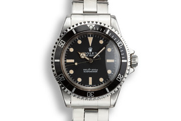 1971 Rolex Submariner 5513 Serif Dial with Box photo